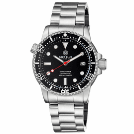 DIVER 1000 II 40MM AUTOMATIC DIVER BLACK CERAMIC BEZEL – BLACK GLOSSY DIAL RED SECOND HAND