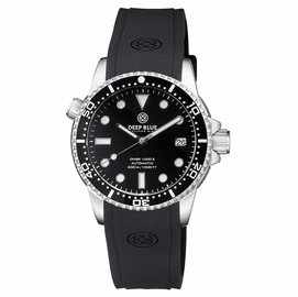 DIVER 1000 II 40MM AUTOMATIC DIVER BLACK CERAMIC BEZEL � BLACK GLOSSY DIAL SILVER HANDS