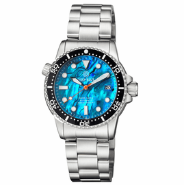DIVER 1000 II 40MM AUTOMATIC DIVER BLACK CERAMIC BEZEL BLUE ABALONE DIAL