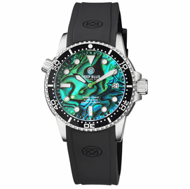 DIVER 1000 II 40MM AUTOMATIC DIVER BLACK CERAMIC BEZEL –GREEN ABALONE DIAL