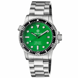 DIVER 1000 II 40MM AUTOMATIC DIVER BLACK CERAMIC BEZEL –GREEN MATTE DIAL