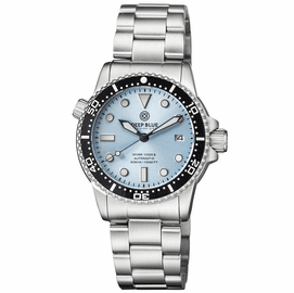 DIVER 1000 II 40MM AUTOMATIC DIVER BLACK CERAMIC BEZEL � SUNRAY ICE  BLUE DIAL BRACELET