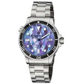 DIVER 1000 II 40MM AUTOMATIC DIVER BLACK CERAMIC BEZEL � MOTHER OF PEARL DIAMOND PATTERN BRACELET