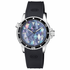 DIVER 1000 II 40MM AUTOMATIC DIVER BLACK CERAMIC BEZEL � MOTHER OF PEARL DIAMOND PATTERN  STRAP