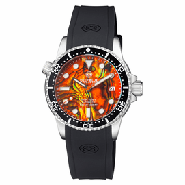 DIVER 1000 II 40MM AUTOMATIC DIVER BLACK CERAMIC BEZEL ORANGE ABALONE DIAL