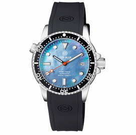 DIVER 1000 II 40MM AUTOMATIC DIVER BLACK CERAMIC BEZEL PLATINUM MOTHER OF PEARL DIAL