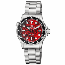 DIVER 1000 II 40MM AUTOMATIC DIVER BLACK CERAMIC BEZEL RED ABALONE DIAL