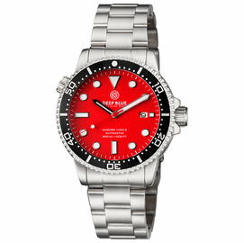 DIVER 1000 II 40MM AUTOMATIC DIVER BLACK CERAMIC BEZEL RED MATTE DIAL