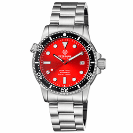 DIVER 1000 II 40MM AUTOMATIC DIVER BLACK CERAMIC BEZEL – RED SUNRAY DIAL