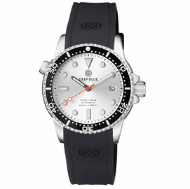 DIVER 1000 II 40MM AUTOMATIC DIVER BLACK CERAMIC BEZEL SILVER SUNRAY DIAL