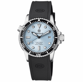 DIVER 1000 II 40MM AUTOMATIC DIVER BLACK CERAMIC BEZEL SUNRAY ICE  BLUE DIAL STRAP