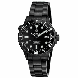 DIVER 1000 II  40MM  AUTOMATIC DIVER  BLACK CERAMIC BEZEL - Triple BLACK DIAL-PVD CASE