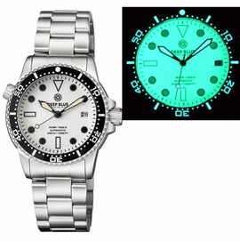 DIVER 1000 II 40MM AUTOMATIC DIVER BLACK CERAMIC BEZEL � WHITE FULL LUME DIAL BRACELET