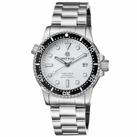 DIVER 1000 II 40MM AUTOMATIC DIVER BLACK CERAMIC BEZEL –WHITE GLOSSY DIAL
