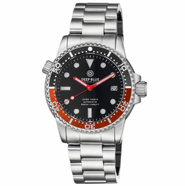 DIVER 1000 II 40MM AUTOMATIC DIVER BLACK/RED CERAMIC BEZEL � BLACK GLOSSY DIAL