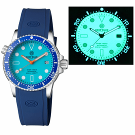 DIVER 1000 II 40MM AUTOMATIC DIVER BLUE CERAMIC BEZEL � BLUE FULL LUME DIAL STRAP