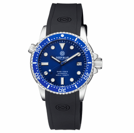 DIVER 1000 II 40MM AUTOMATIC DIVER BLUE CERAMIC BEZEL � DARK BLUE SUNRAY DIAL BLUE  SECOND HAND