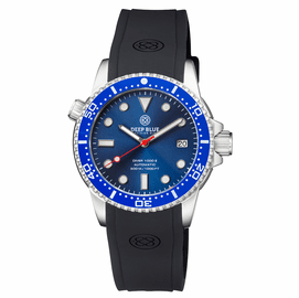 DIVER 1000 II 40MM AUTOMATIC DIVER BLUE CERAMIC BEZEL -DARK BLUE SUNRAY DIAL RED SECOND HAND