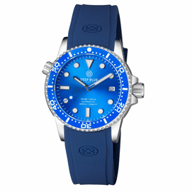 DIVER 1000 II 40MM AUTOMATIC DIVER BLUE CERAMIC BEZEL -LIGHT BLUE SUNRAY DIAL BLUE SECOND HAND
