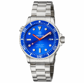 DIVER 1000 II 40MM AUTOMATIC DIVER BLUE CERAMIC BEZEL � LIGHT BLUE SUNRAY DIAL ORANGE HANDS