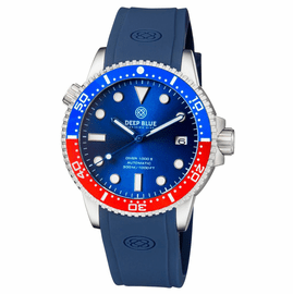 DIVER 1000 II  40MM  AUTOMATIC DIVER BLUE/RED CERAMIC BEZEL -BLUE DIAL BLUE HANDS