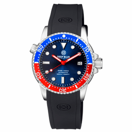 DIVER 1000 II  40MM  AUTOMATIC DIVER  BLUE/RED CERAMIC BEZEL - BLUE DIAL-RED HANDS