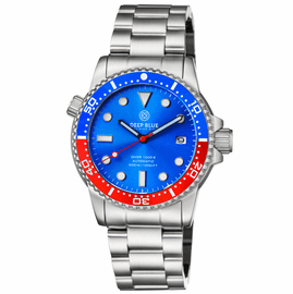 DIVER 1000 II  40MM  AUTOMATIC DIVER BLUE/RED CERAMIC BEZEL � LIGHT BLUE DIAL