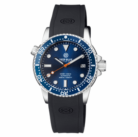 DIVER 1000 II 40MM AUTOMATIC DIVER DARK BLUE CERAMIC BEZEL � DARK BLUE DIAL ORANGE SECOND HAND