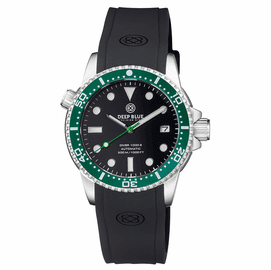 DIVER 1000 II 40MM AUTOMATIC DIVER GREEN CERAMIC BEZEL -BLACK DIAL