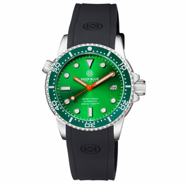 DIVER 1000 II 40MM AUTOMATIC DIVER GREEN CERAMIC BEZEL -GREEN DIAL ORANGE HANDS