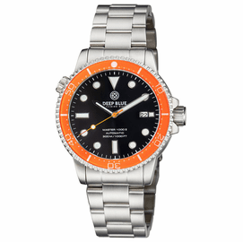 DIVER 1000 II 40MM AUTOMATIC DIVER ORANGE CERAMIC BEZEL BLACK GLOSSY DIAL