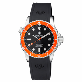 DIVER 1000 II 40MM AUTOMATIC DIVER ORANGE CERAMIC BEZEL � BLACK GLOSSY DIAL