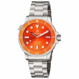 DIVER 1000 II 40MM AUTOMATIC DIVER ORANGE CERAMIC BEZEL ORANGE SUNRAY DIAL