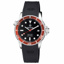 DIVER 1000 II 40MM AUTOMATIC DIVER RED CERAMIC BEZEL �BLACK GLOSSY DIAL