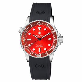 DIVER 1000 II 40MM AUTOMATIC DIVER RED CERAMIC BEZEL RED SUNRAY DIAL