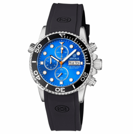 DIVER 1000 40MM QUARTZ CHRONOGRAPH  DIVER BLACK BEZEL �LIGHT BLUE  DIAL