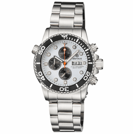 DIVER 1000 40MM QUARTZ CHRONOGRAPH  DIVER BLACK BEZEL -WHITE DIAL- BLACK SUBDIALS BRACELET