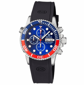 DIVER 1000 40MM QUARTZ CHRONOGRAPH  DIVER BLUE/RED  BEZEL - BLUE DIAL