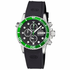 DIVER 1000 40MM QUARTZ CHRONOGRAPH DIVER GREEN BEZEL � BLACK  DIAL