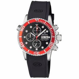 DIVER 1000 40MM QUARTZ CHRONOGRAPH DIVER RED BEZEL – BLACK  DIAL