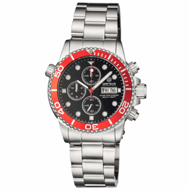 DIVER 1000 40MM QUARTZ CHRONOGRAPH DIVER RED BEZEL � BLACK  DIAL BRACELET