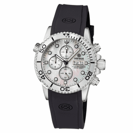 DIVER 1000 QUARTZ CHRONOGRAPH  DIVER SILVER BEZEL – WHITE MOTHER OF PEARL DIAL