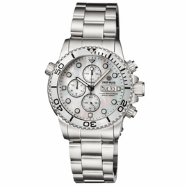 DIVER 1000 40MM QUARTZ CHRONOGRAPH  DIVER SILVER BEZEL – WHITE MOTHER OF PEARL DIAL BRACELET
