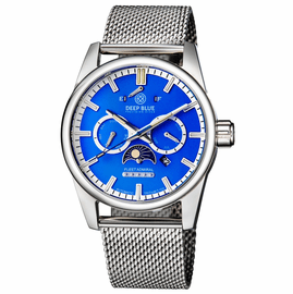 FLEET ADMIRAL 5 STAR  TRITIUM TUBES - STAINLESS CASE BLUE DIAL