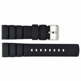 HYDRO 91 NATURAL RUBBER VENT ACCORDIAN SNUG FIT STRAP 22MM BLACK