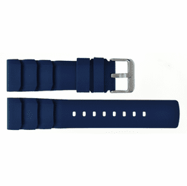 HYDRO 91 NATURAL RUBBER VENT ACCORDIAN SNUG FIT STRAP 22MM BLUE
