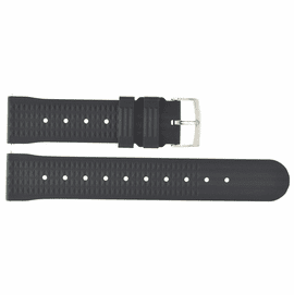 HYDRO 91 NATURAL RUBBER WAFFLE PATTERN STRAP 22MM BLACK