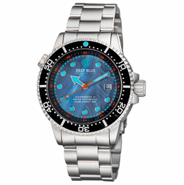 JUGGERNAUT IV SWISS AUTOMATIC –BLACK  DIVER MOTHER OF PEARL DIAL BRACELET