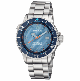 JUGGERNAUT IV SWISS AUTOMATIC – BLUE DIVER MOTHER OF PEARL DIAL BRACELET