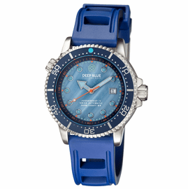 JUGGERNAUT IV SWISS AUTOMATIC � BLUE DIVER MOTHER OF PEARL  DIAL STRAP